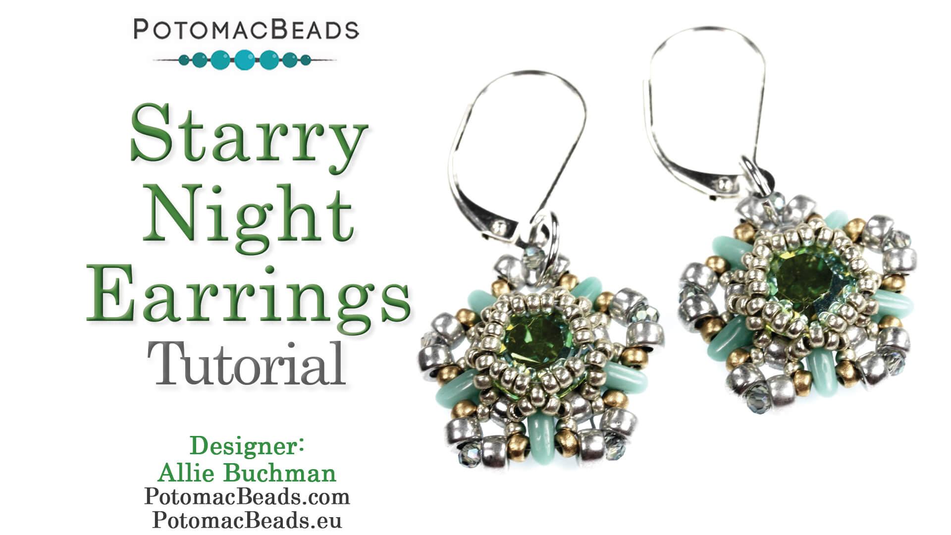 How to Bead Jewelry / Beading Tutorials & Jewel Making Videos / Netting Stitch Videos / Starry Night Earrings Tutorial