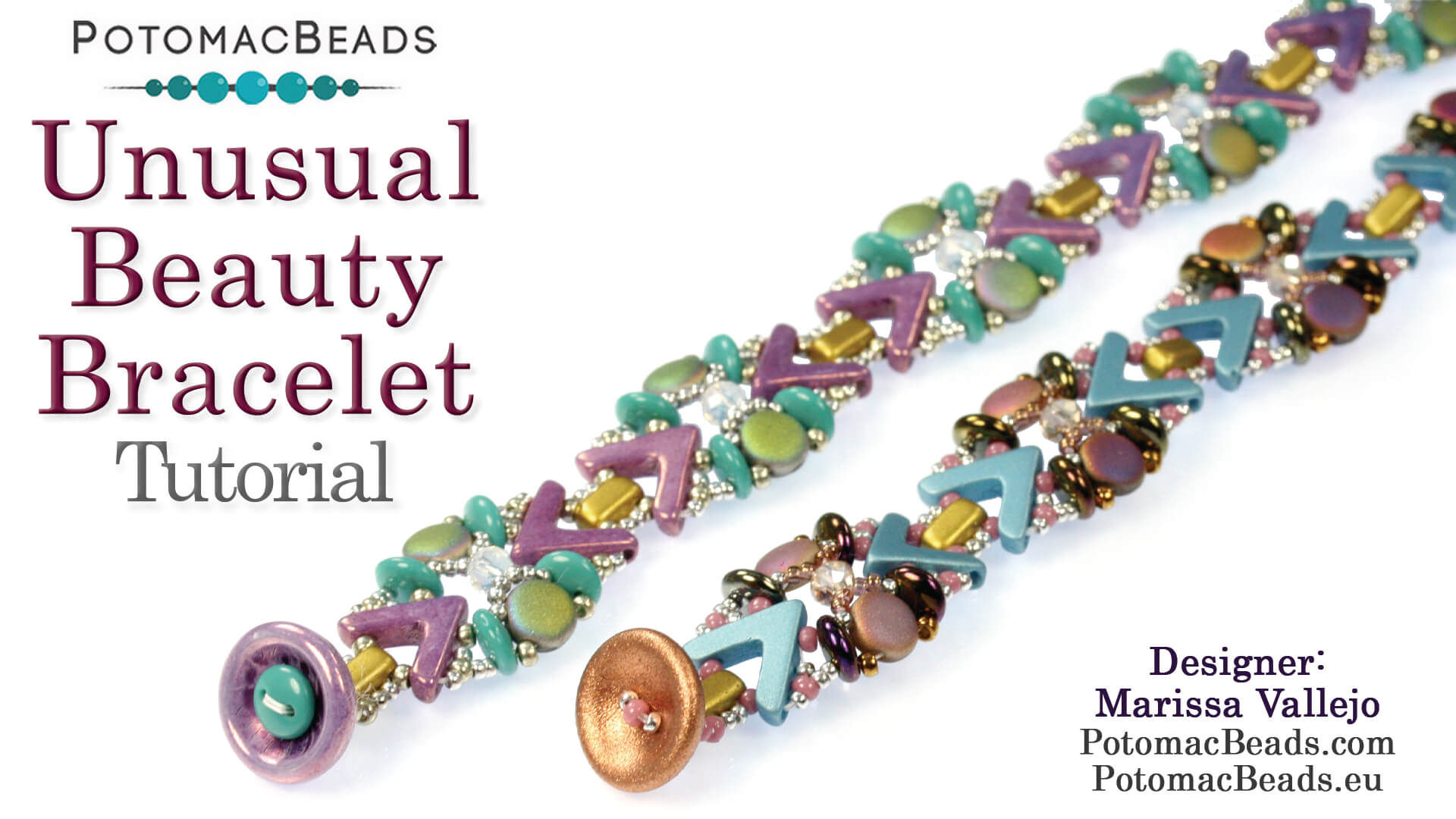 How to Bead Jewelry / Videos Sorted by Beads / DiscDuo® Bead Videos / Unusual Beauty Bracelet Tutorial