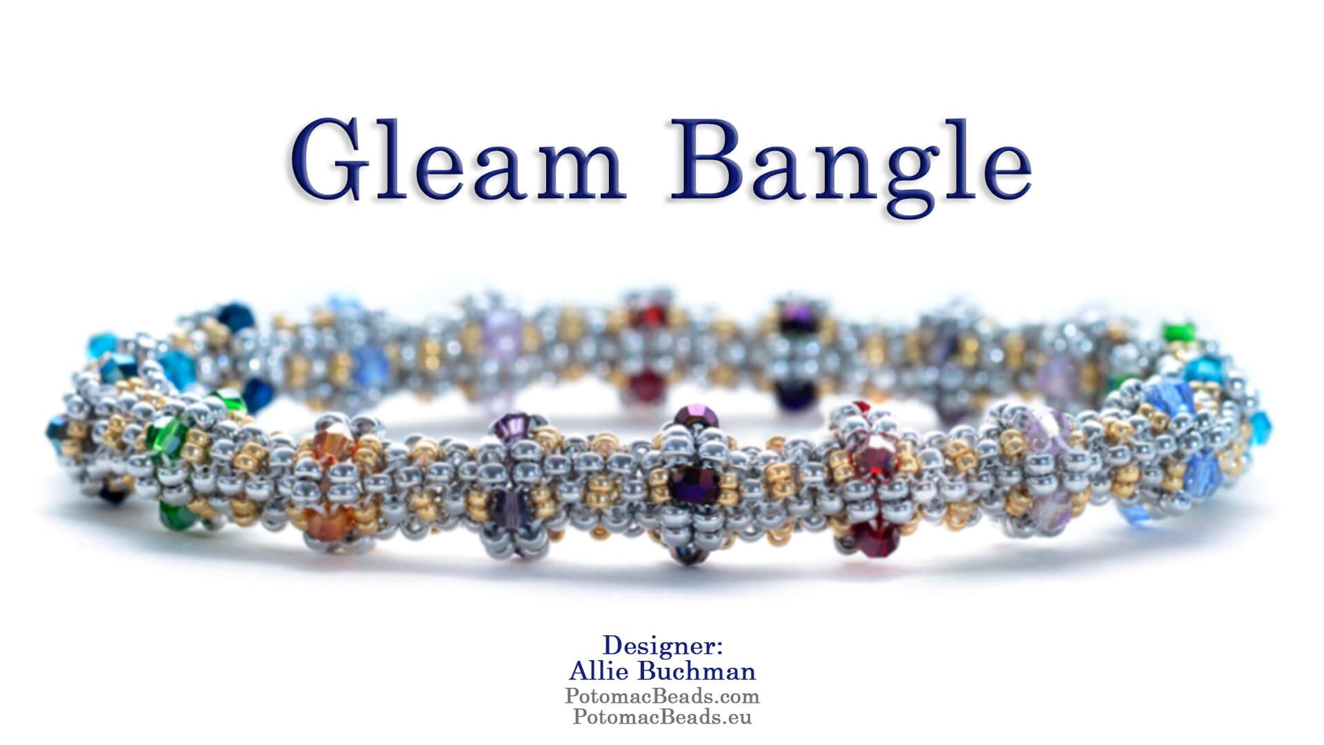 How to Bead Jewelry / Beading Tutorials & Jewel Making Videos / Tubular Peyote Videos / Gleam Bangle Tutorial