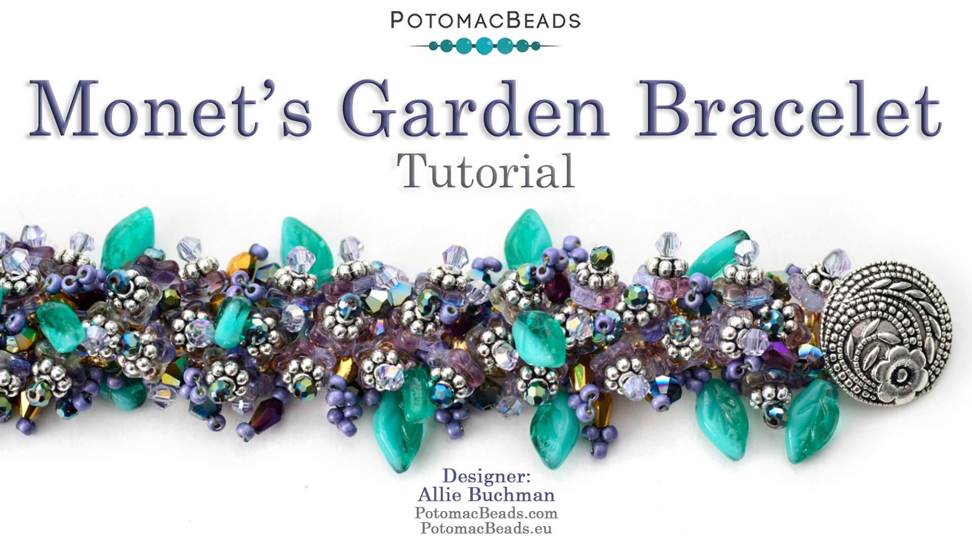How to Bead Jewelry / Beading Tutorials & Jewel Making Videos / Bracelet Projects / Monet's Garden Bracelet Tutorial