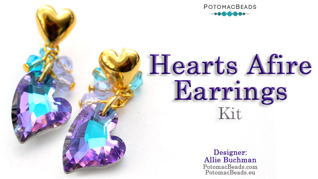 How to Bead / Free Video Tutorials / Earring Projects / Hearts Afire Earrings Tutorial