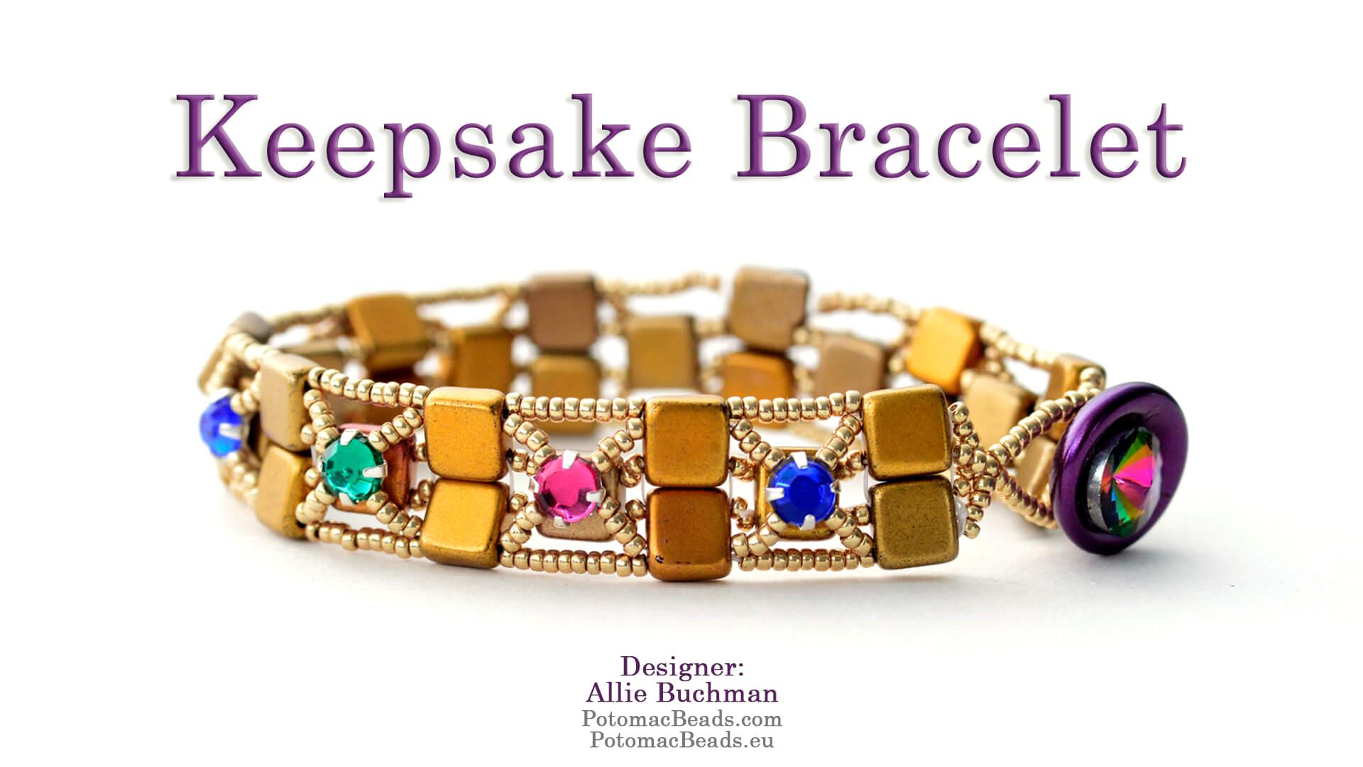 How to Bead / Free Video Tutorials / Bracelet Projects / Keepsake Bracelet Tutorial