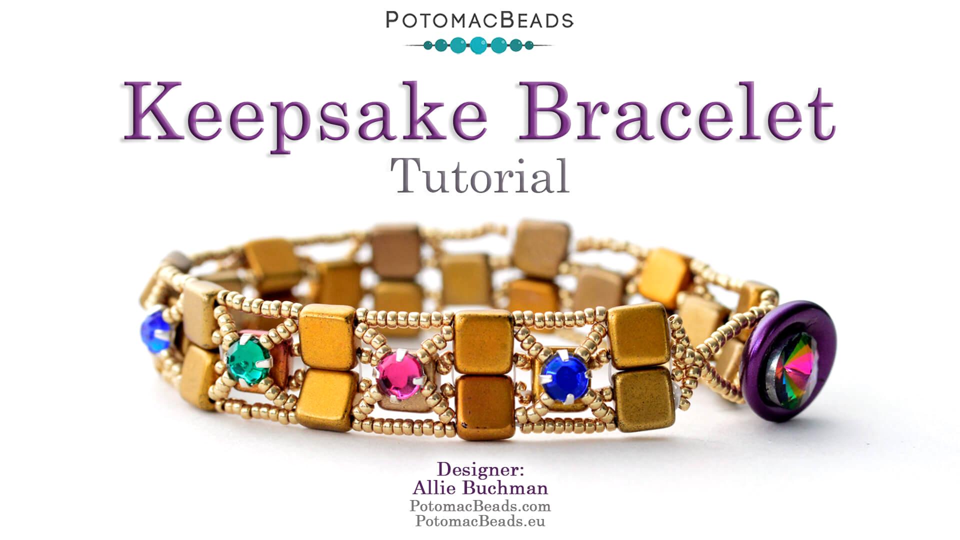 How to Bead Jewelry / Videos Sorted by Beads / Potomac Crystal Videos / Keepsake Bracelet Tutorial