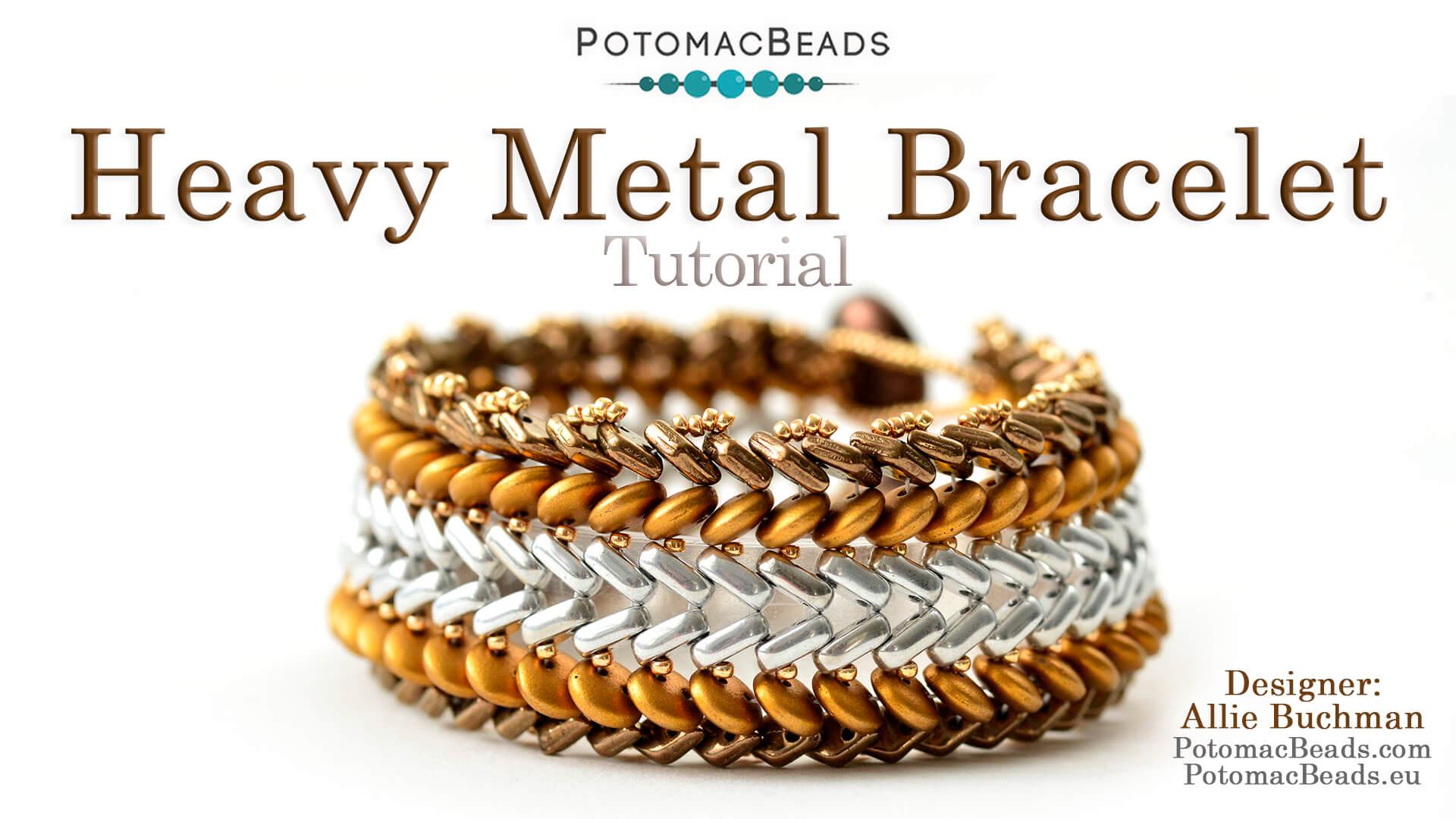 How to Bead / Free Video Tutorials / Herringbone Stitch Videos / Heavy Metal Bracelet Tutorial