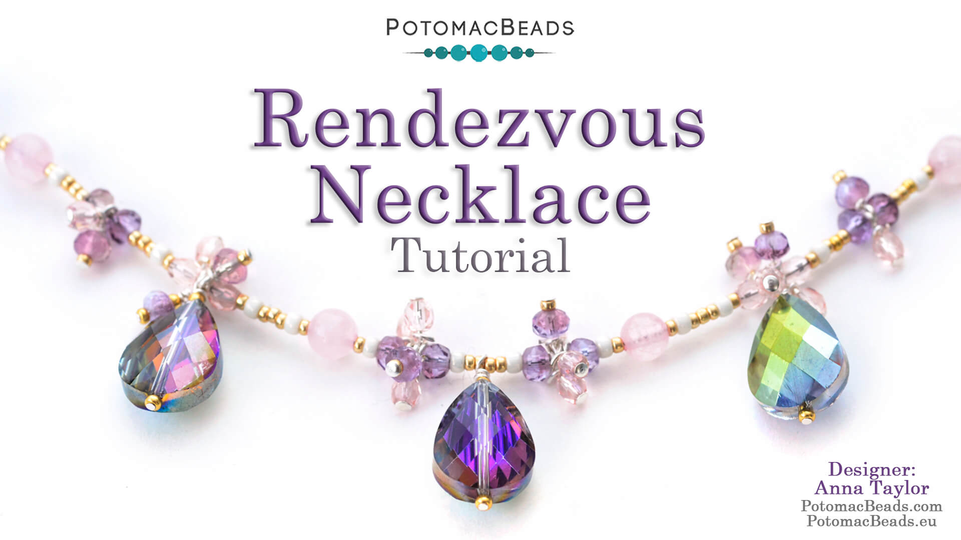 How to Bead Jewelry / Videos Sorted by Beads / Potomac Crystal Videos / Rendezvous Necklace Tutorial
