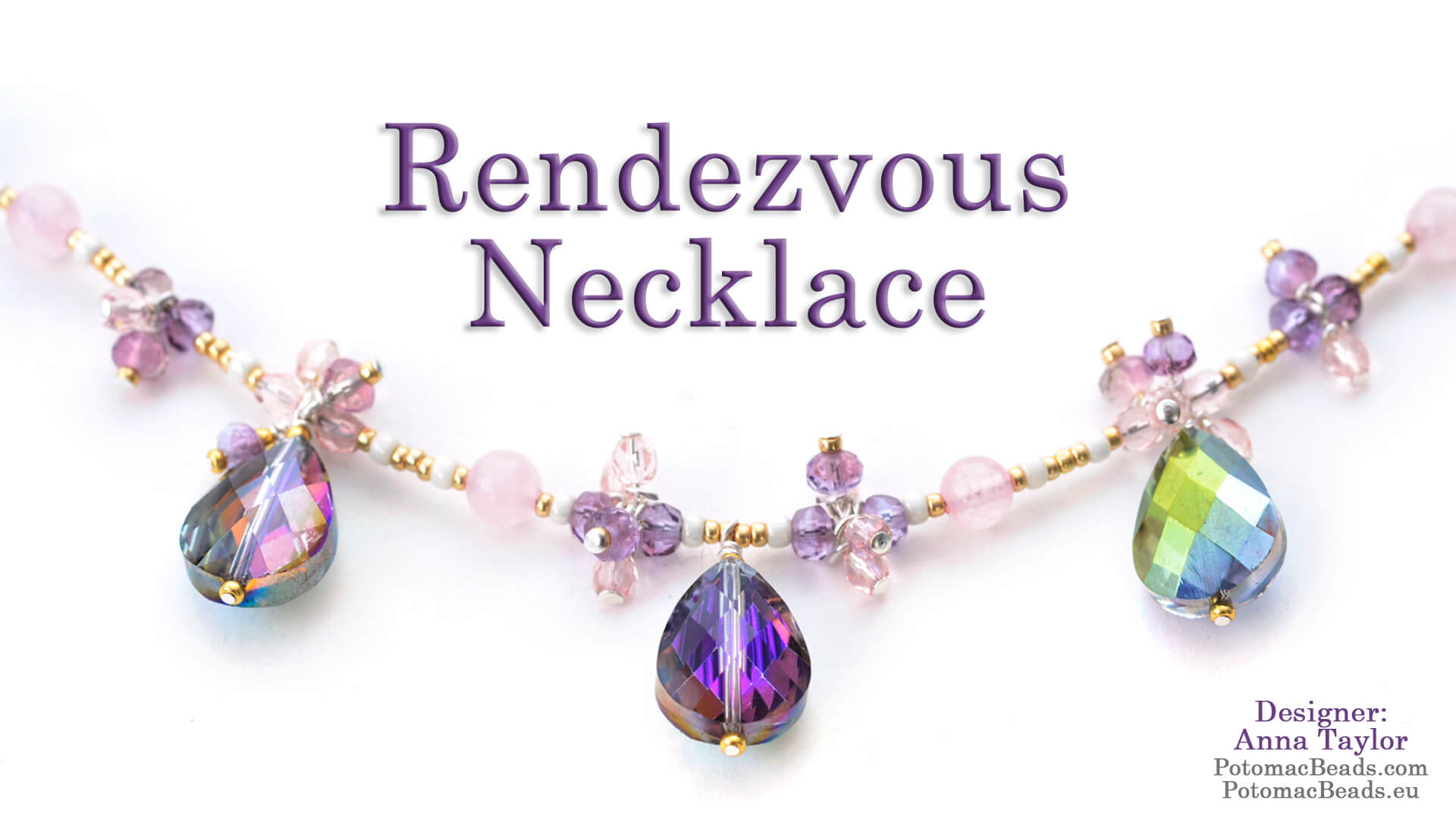 How to Bead / Videos Sorted by Beads / Gemstone Videos / Rendezvous Necklace Tutorial