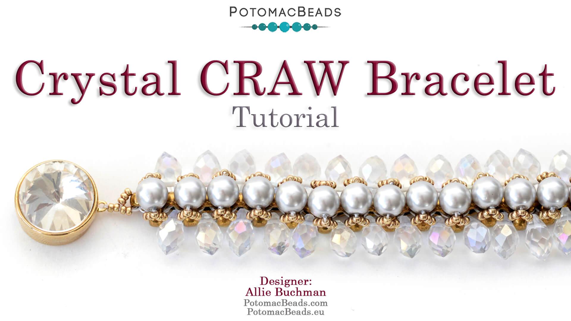 How to Bead Jewelry / Beading Tutorials & Jewel Making Videos / Bracelet Projects / Crystal Craw Bracelet Tutorial