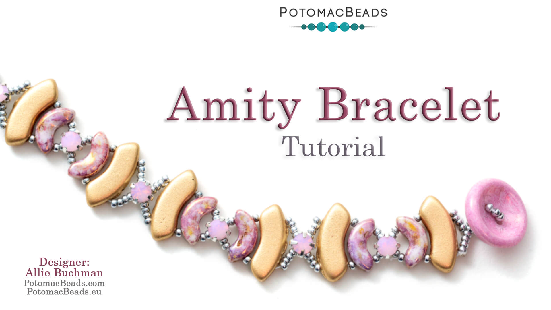 How to Bead / Videos Sorted by Beads / QuadBow & PieDuo Bead Videos / Amity Bracelet Tutorial