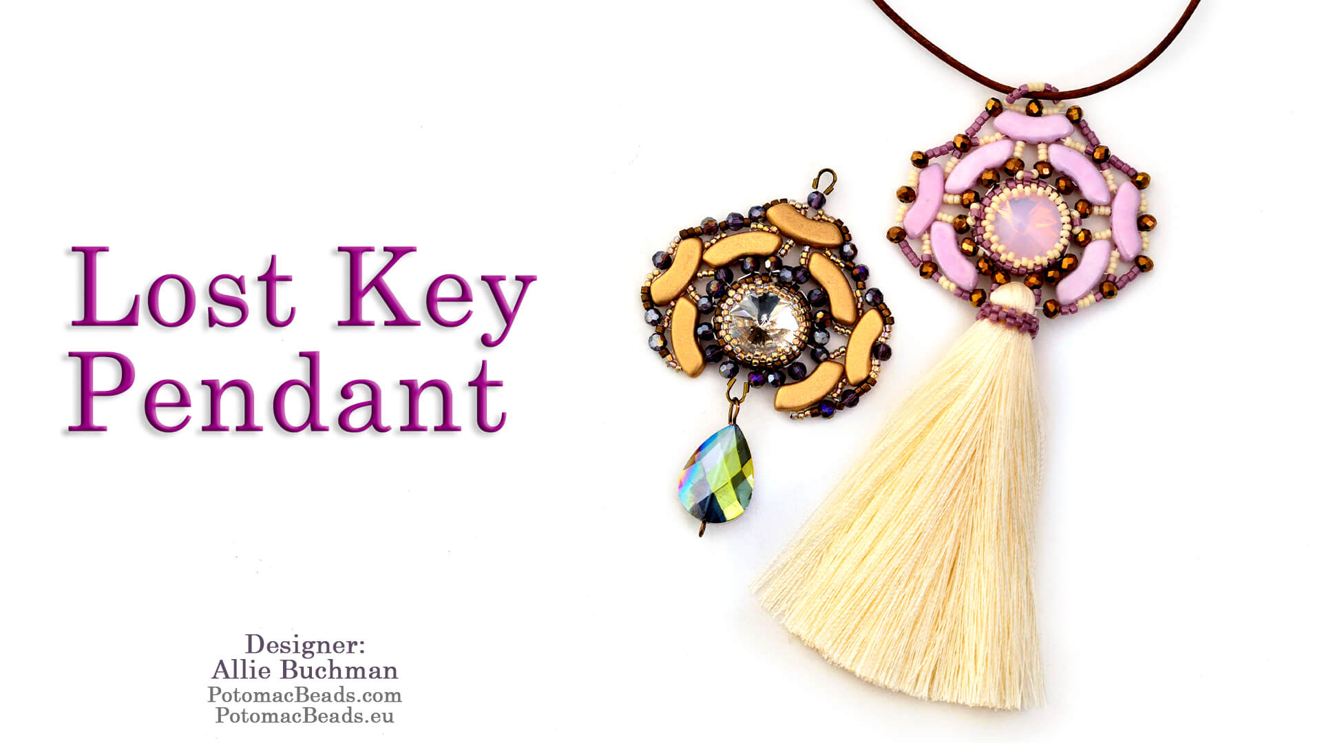 How to Bead Jewelry / Beading Tutorials & Jewel Making Videos / Pendant Projects / Lost Key Pendant Tutorial