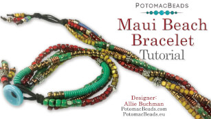 How to Bead / Free Video Tutorials / Stringing & Knotting Projects / Maui Beach Bracelet Tutorial