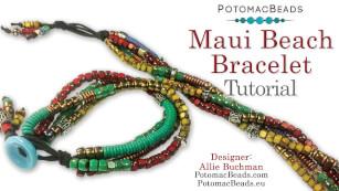 How to Bead Jewelry / Beading Tutorials & Jewel Making Videos / Stringing & Knotting Projects / Maui Beach Bracelet Tutorial