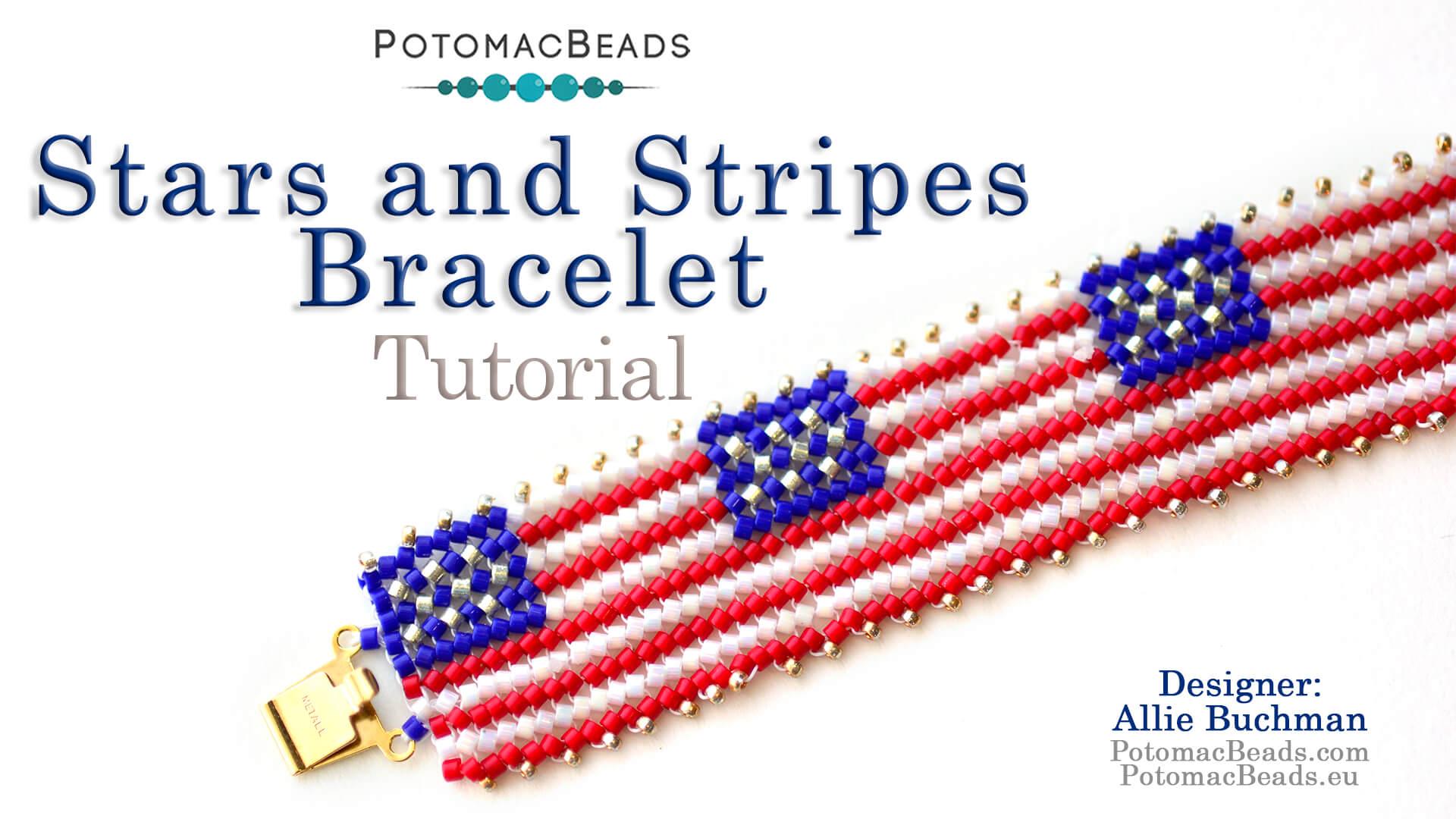 How to Bead / Free Video Tutorials / Herringbone Stitch Videos / Stars & Stripes Bracelet Tutorial