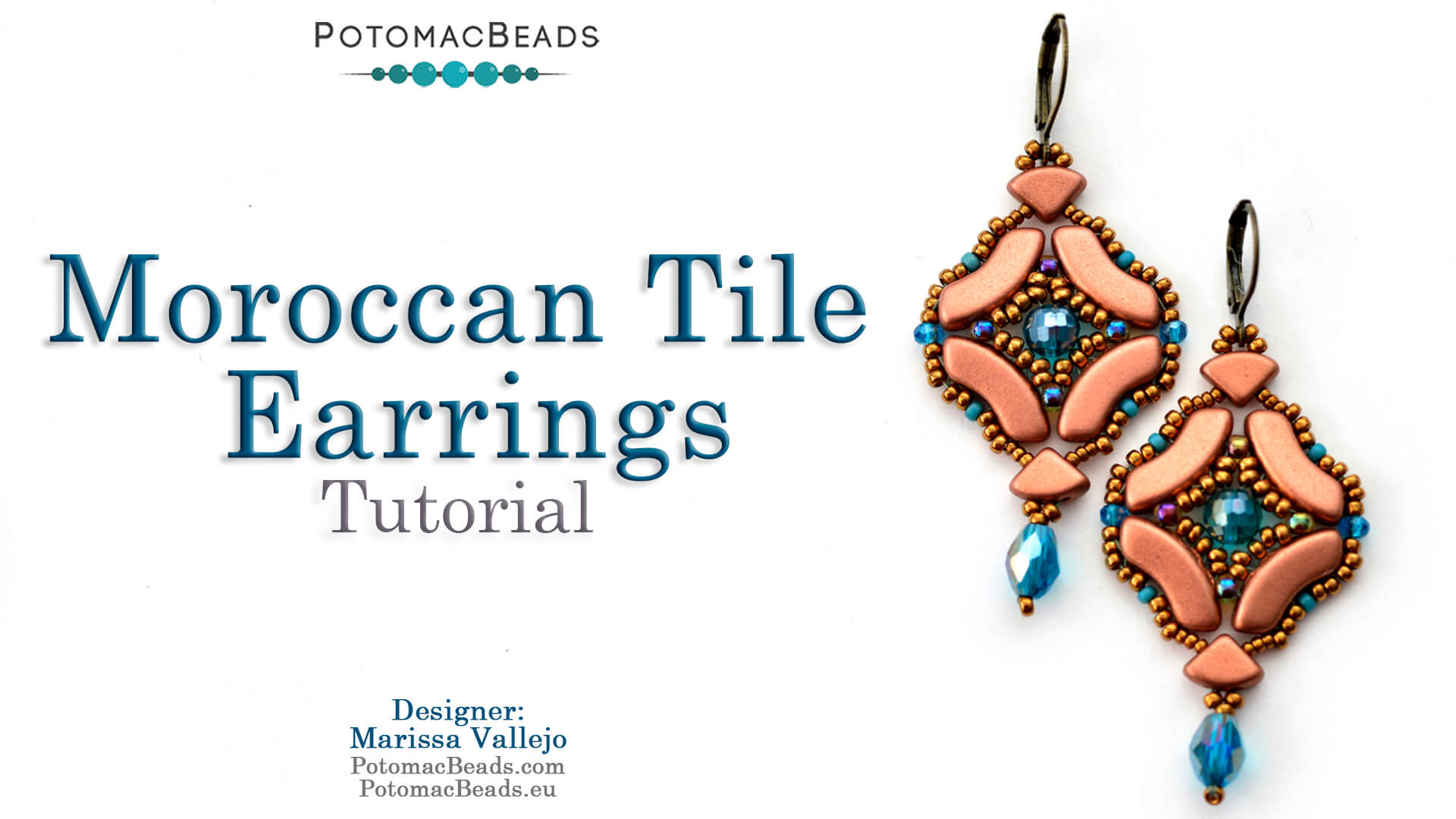 How to Bead Jewelry / Videos Sorted by Beads / QuadBow & PieDuo Bead Videos / Moroccan Tile Earrings Tutorial