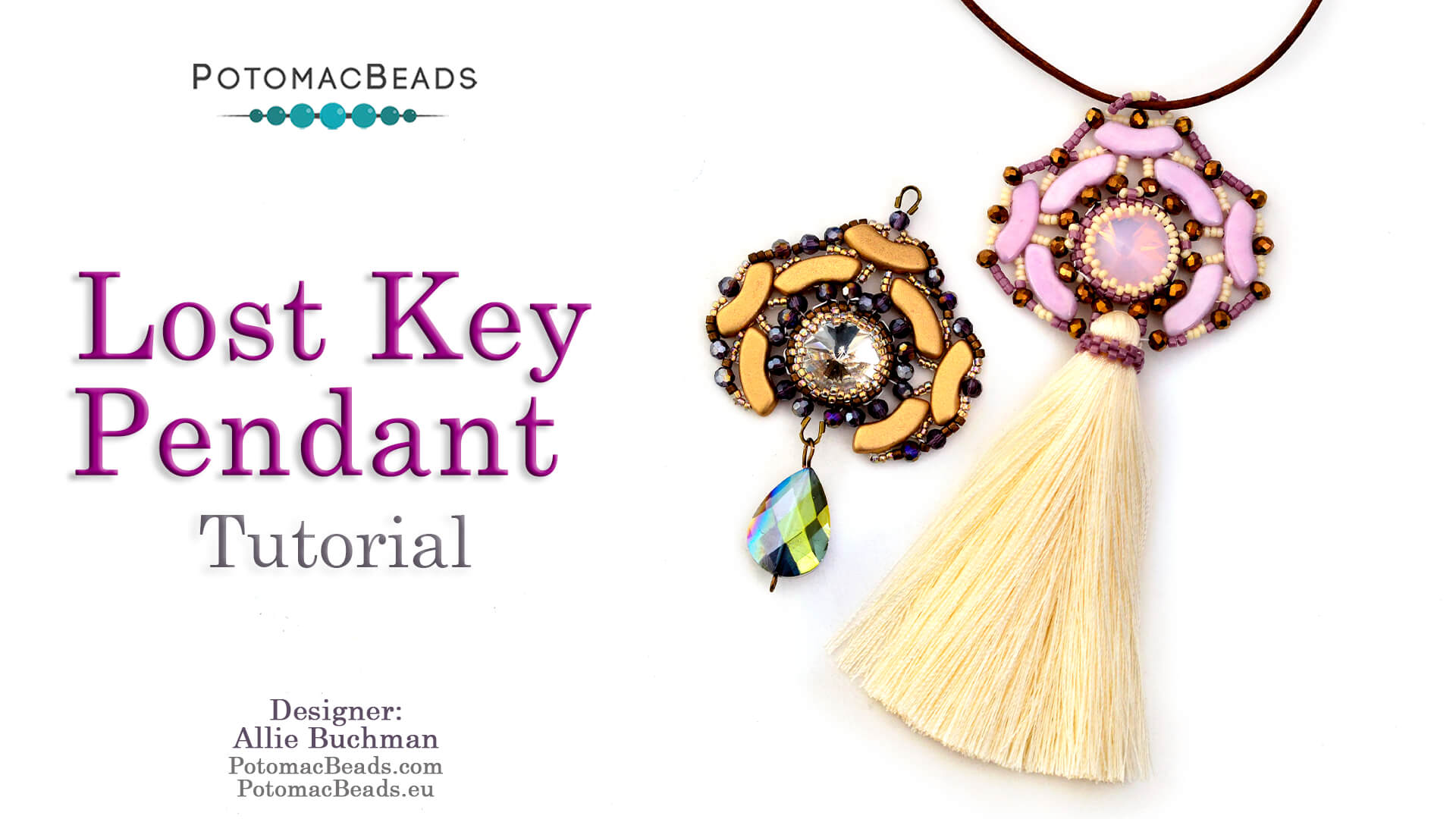 How to Bead / Videos Sorted by Beads / QuadBow & PieDuo Bead Videos / Lost Key Pendant Tutorial