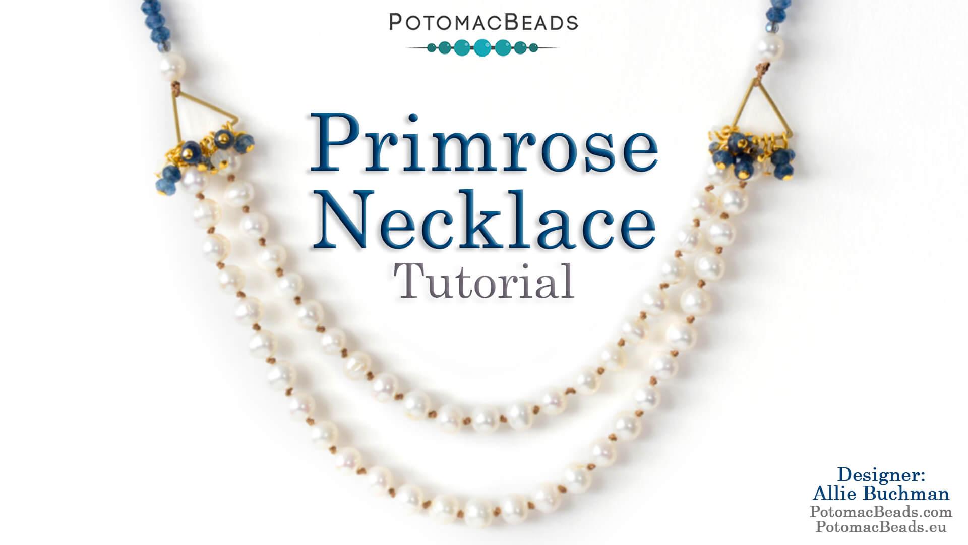 How to Bead Jewelry / Beading Tutorials & Jewel Making Videos / Knotting Stitch Videos / Primrose Necklace Tutorial