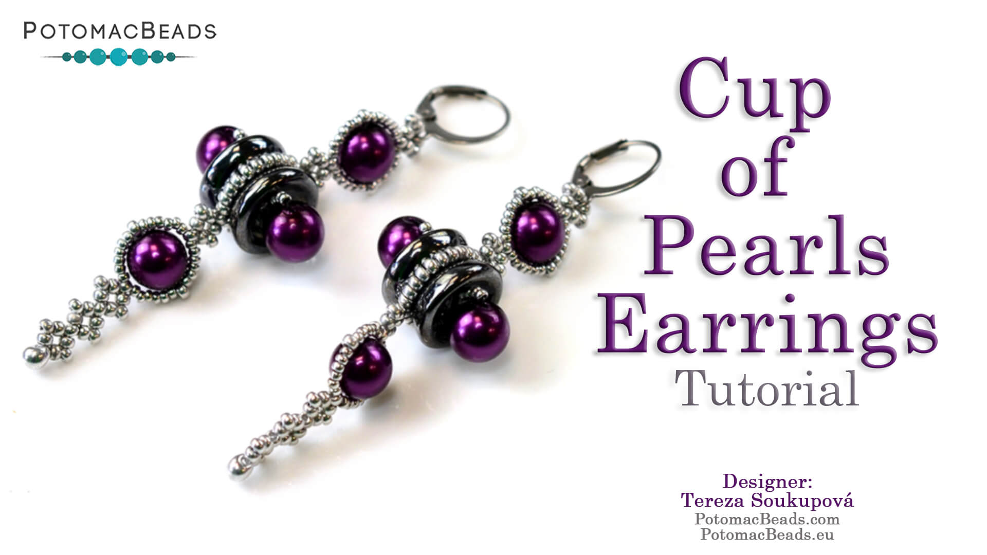 How to Bead / Free Video Tutorials / Right Angle Weave (RAW) Videos / Cup of Pearls Earrings Tutorial