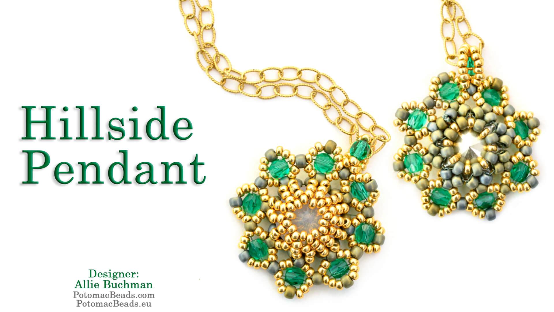 How to Bead Jewelry / Beading Tutorials & Jewel Making Videos / Pendant Projects / Hillside Pendant Tutorial
