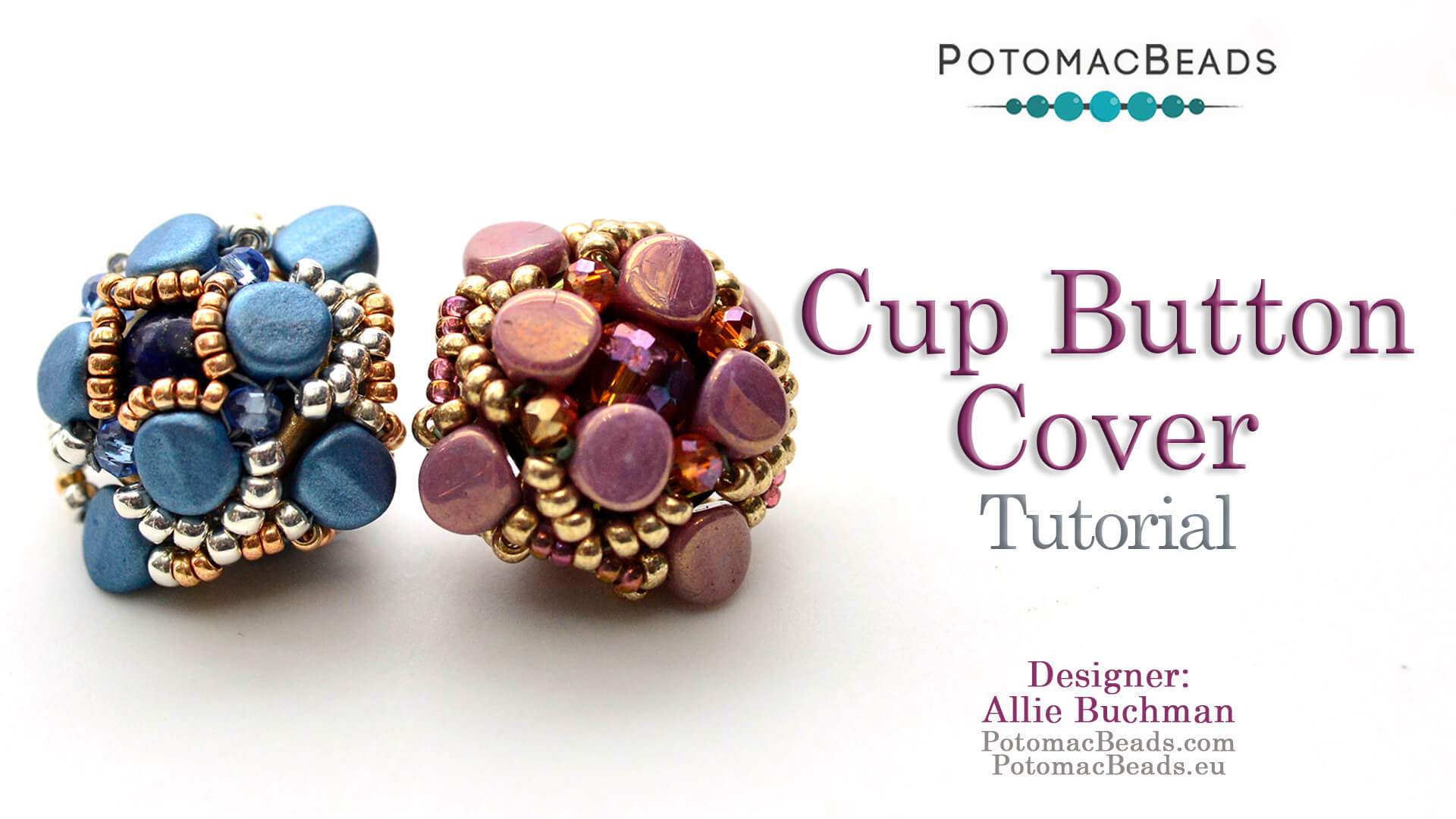 How to Bead / Free Video Tutorials / Netting Stitch Videos / Cup Button Cover Tutorial