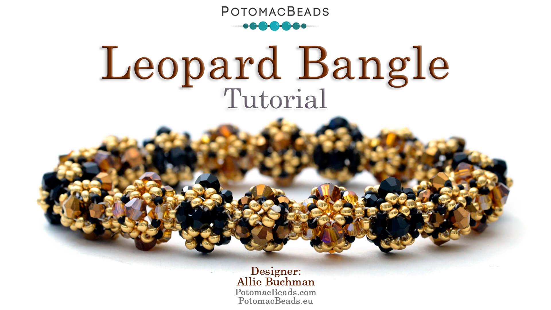 How to Bead Jewelry / Beading Tutorials & Jewel Making Videos / Tubular Peyote Videos / Leopard Bangle Tutorial