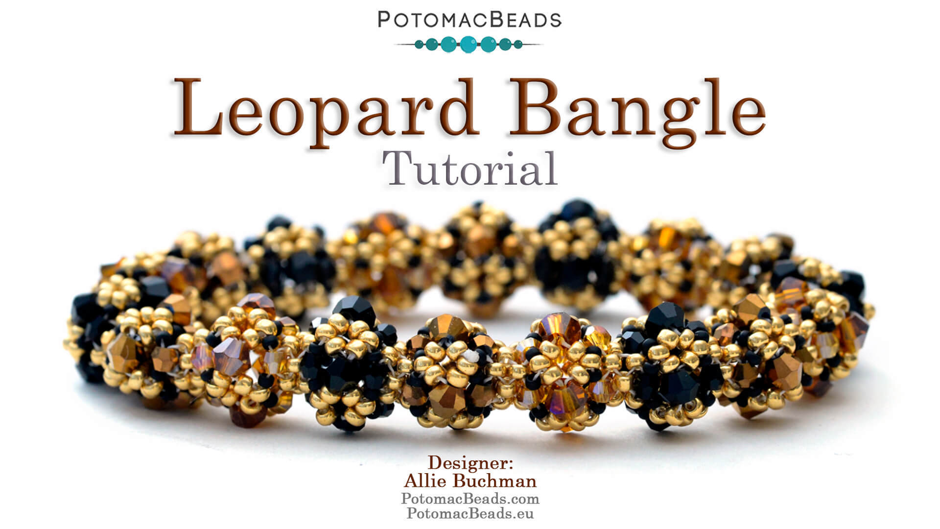 How to Bead Jewelry / Videos Sorted by Beads / Potomac Crystal Videos / Leopard Bangle Tutorial