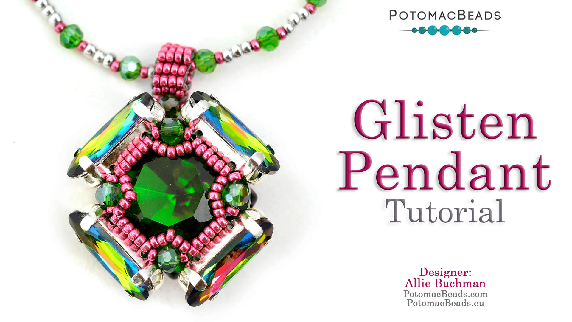 How to Bead Jewelry / Videos Sorted by Beads / QuadBow & PieDuo Bead Videos / Glisten Pendant Tutorial