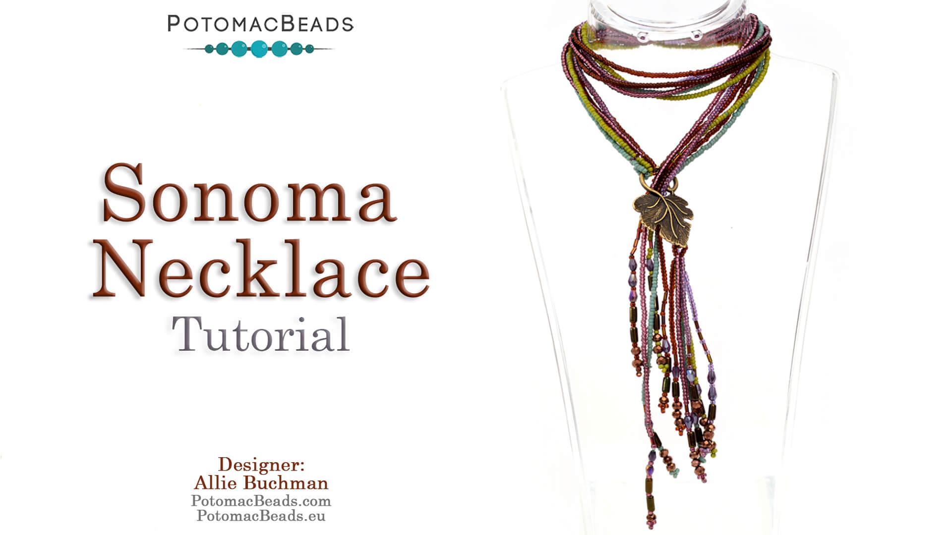 How to Bead Jewelry / Beading Tutorials & Jewel Making Videos / Bead Weaving Tutorials & Necklace Tutorial / Sonoma Necklace Tutorial