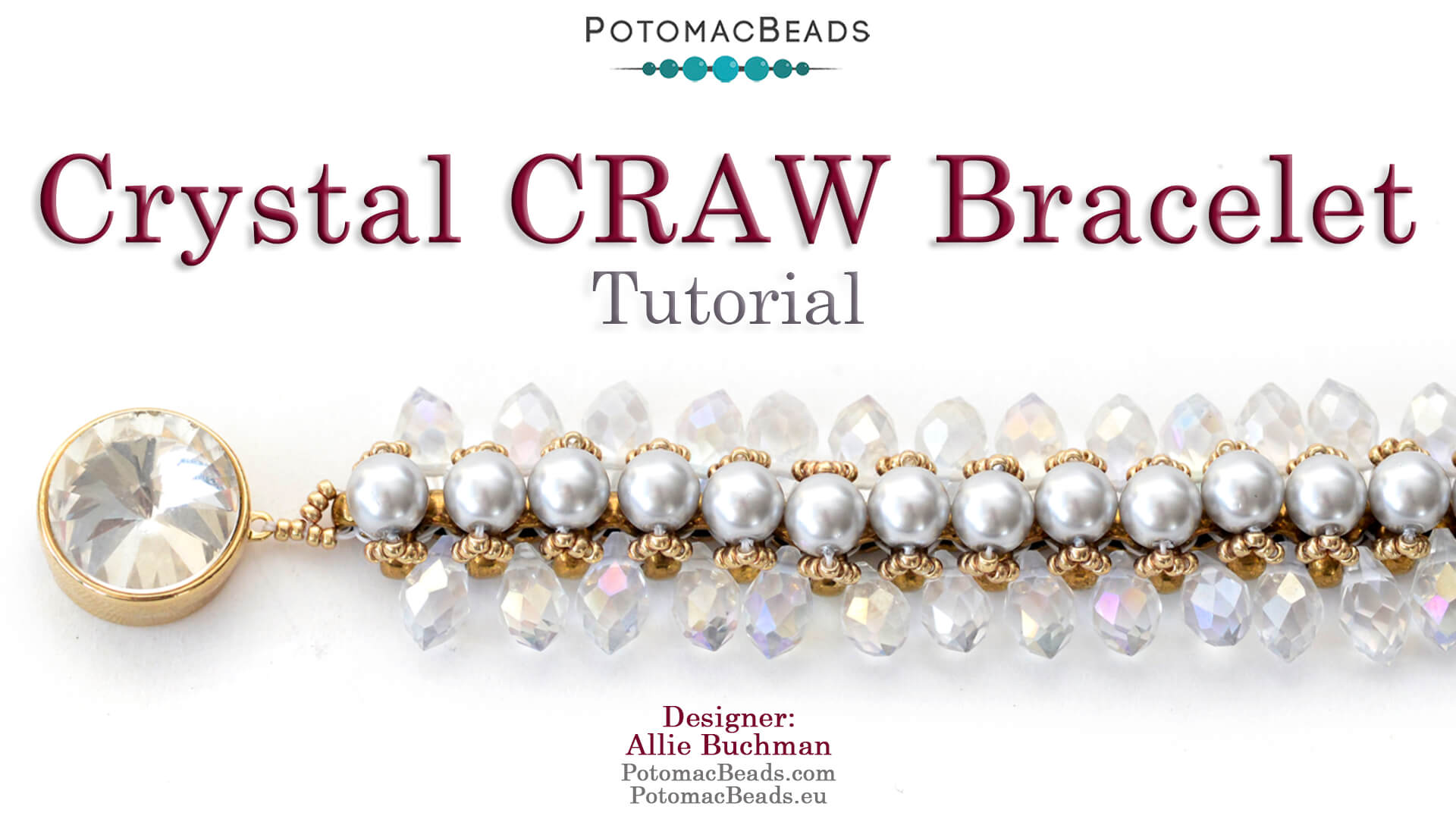 How to Bead Jewelry / Videos Sorted by Beads / Pearl Videos (Czech, Freshwater, Potomac Pearls) / Crystal Craw Bracelet Tutorial