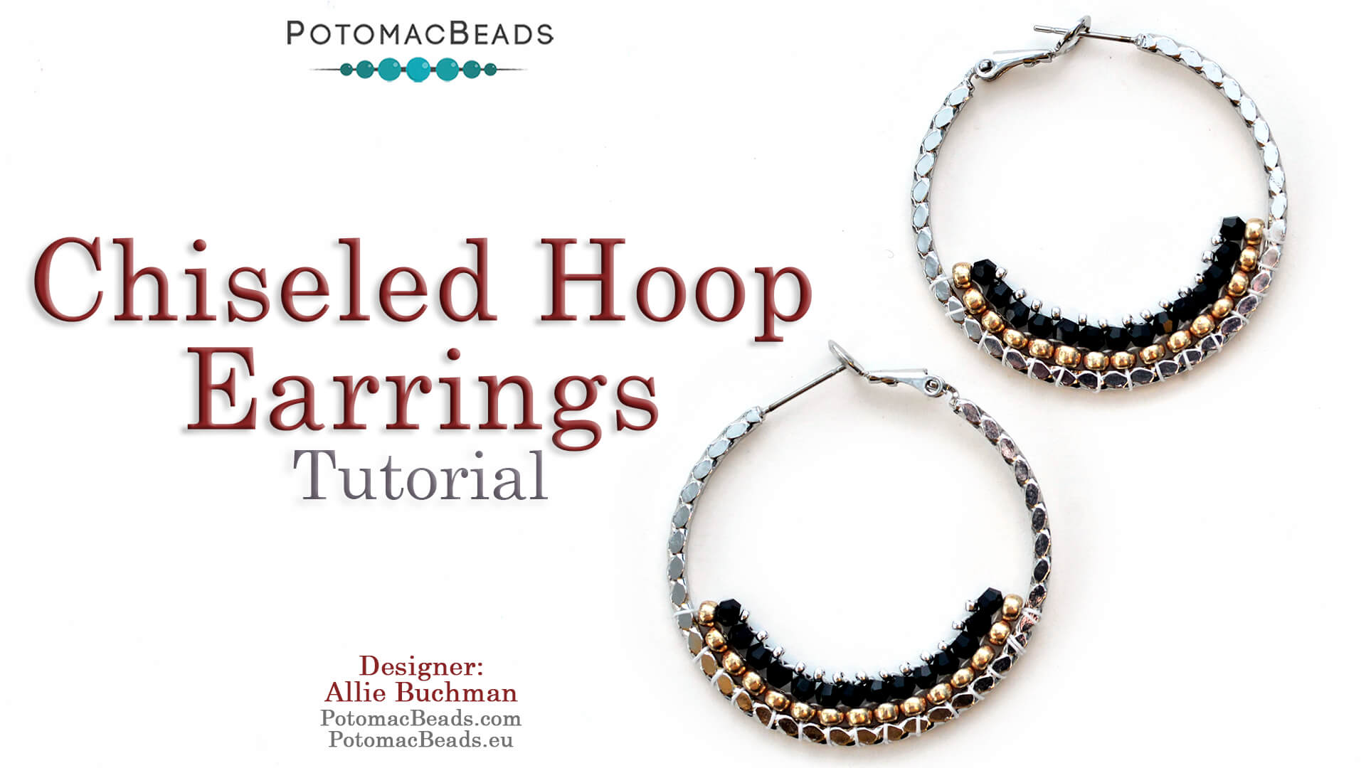 How to Bead / Videos Sorted by Beads / Potomac Crystal Videos / Chiseled Hoop Earrings Tutorial