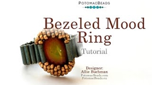 How to Bead / Videos Sorted by Beads / Cabochon Videos / Bezeled Mood Ring Tutorial