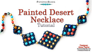 How to Bead / Videos Sorted by Beads / Gemstone Videos / Painted Desert Necklace Tutorial