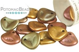 Czech Pressed Glass Beads / 1-Hole Beads / Rose Petal Beads