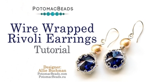 How to Bead Jewelry / Beading Tutorials & Jewel Making Videos / Earring Projects / Wire Wrapped Rivoli Earrings Tutorial