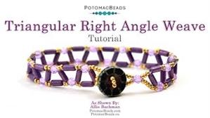 How to Bead Jewelry / Beading Tutorials & Jewel Making Videos / Basic Beadweaving Stitches / Triangular Right Angle Weave Bracelet Tutorial
