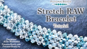 How to Bead Jewelry / Beading Tutorials & Jewel Making Videos / Basic Beadweaving Stitches / Stretch RAW Bracelet Tutorial