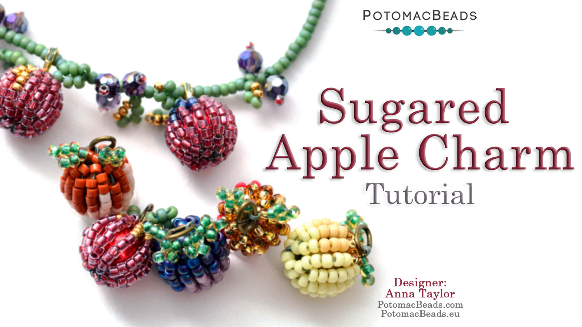 How to Bead / Free Video Tutorials / Beaded Beads / Sugared Apple Charm Tutorial