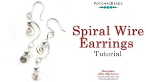 How to Bead / Free Video Tutorials / Earring Projects / Spiral Wire Earrings Tutorial