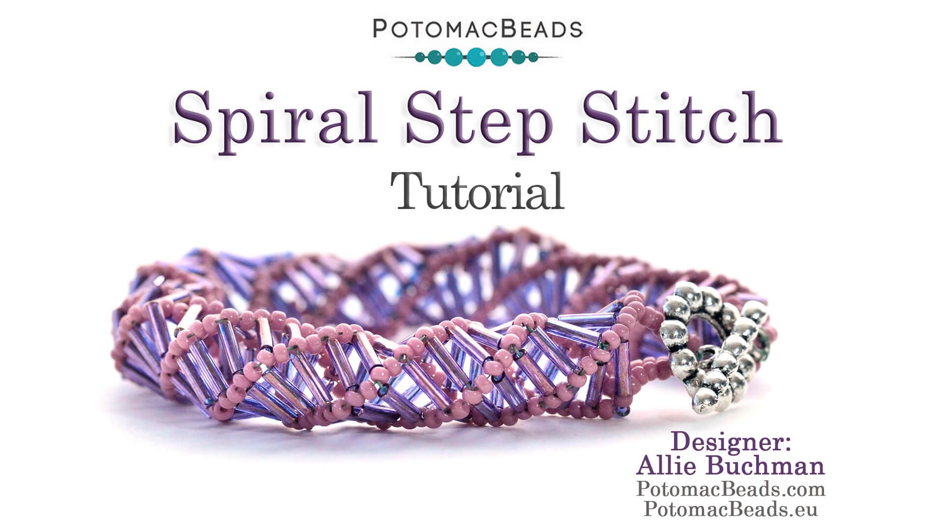 How to Bead Jewelry / Beading Tutorials & Jewel Making Videos / Basic Beadweaving Stitches / Spiral Step Jewelry Tutorial