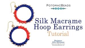 How to Bead Jewelry / Beading Tutorials & Jewel Making Videos / Earring Projects / Silk Macrame Hoop Earrings Tutorial