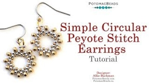 How to Bead / Free Video Tutorials / Basic Beadweaving Stitches / Simple Circular Peyote Stitch Earrings