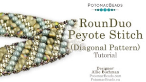 How to Bead / Free Video Tutorials / Basic Beadweaving Stitches / RounDuo® Peyote Stitch Diagonal Bracelet Tutorial
