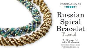 How to Bead Jewelry / Beading Tutorials & Jewel Making Videos / Basic Beadweaving Stitches / Russian Spiral Bracelet Tutorial