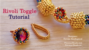 How to Bead Jewelry / Beading Tutorials & Jewel Making Videos / Beadweaving & Component Projects / Rivoli Toggle Beadweaving Tutorial