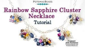 How to Bead Jewelry / Beading Tutorials & Jewel Making Videos / Bead Weaving Tutorials & Necklace Tutorial / Rainbow Sapphire Cluster Necklace Tutorial
