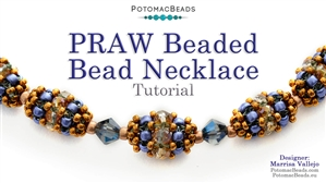 How to Bead / Free Video Tutorials / Basic Beadweaving Stitches / PRAW Beaded Bead Necklace Tutorial