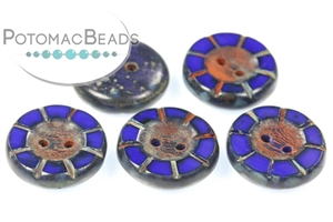Potomac Exclusive Czech Glass / Table Cut Buttons