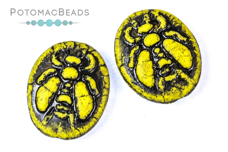 Czech Pressed Glass Beads / 1-Hole Beads / Animals, Insects, & Seasonal Shapes