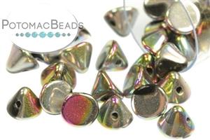 Czech Pressed Glass Beads / 1-Hole Beads / Button Beads