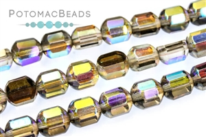 Czech Pressed Glass Beads / 1-Hole Beads / Cathedral Dome Beads