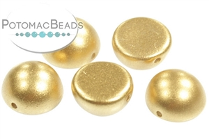 Czech Pressed Glass Beads / 1-Hole Beads / Dome Beads