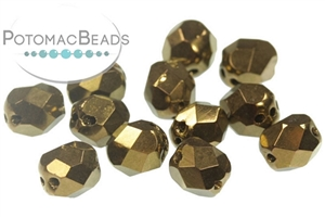 Czech Pressed Glass Beads / 1-Hole Beads / Fire Polished (Faceted) Shapes